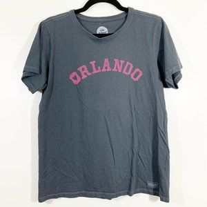Life Is Good Classic Fit Gray Orlando Graphic Tee